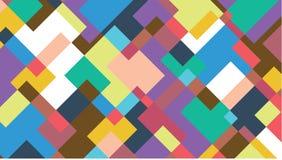 Priorità bassa astratta variopinta Forme geometriche irregolari, colori multipli Vector l'illustrazione per fondo, la carta da pa Immagini Stock Libere da Diritti