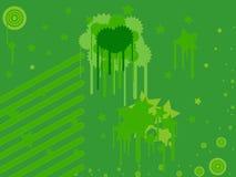 Priorità bassa astratta verde Fotografia Stock