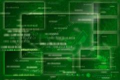 Priorità bassa astratta verde del blocco per grafici, stile di Digitahi Immagine Stock