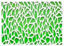 Priorità bassa astratta verde e bianca Fotografia Stock