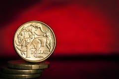 Priorità bassa australiana dei soldi Fotografia Stock Libera da Diritti