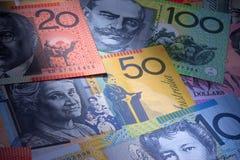Priorità bassa australiana dei soldi Fotografia Stock