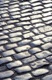 Priorità bassa bagnata del cobblestone fotografie stock libere da diritti