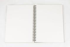 Priorità bassa bianca aperta del libro Immagine Stock