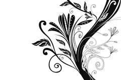 Priorità bassa bianca con l'albero nero Fotografie Stock