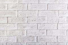 Priorità bassa bianca del muro di mattoni Fotografia Stock Libera da Diritti