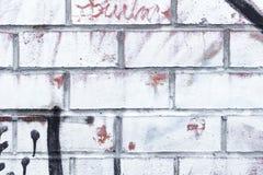 Priorità bassa bianca del muro di mattoni Fotografia Stock