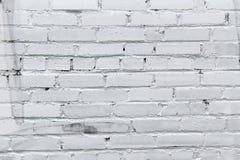 Priorità bassa bianca del muro di mattoni Fotografie Stock