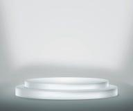 Priorità bassa bianca del podio illustrazione vettoriale