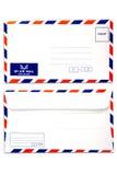 Priorità bassa bianca isolata busta della posta di aria Immagine Stock Libera da Diritti