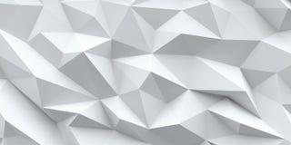 Priorità bassa bianca Struttura astratta del triangolo Immagine Stock
