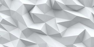 Priorità bassa bianca Struttura astratta del triangolo Immagini Stock