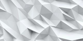 Priorità bassa bianca Struttura astratta del triangolo Fotografia Stock