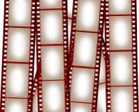 Priorità bassa in bianco della pellicola Fotografia Stock