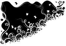 Priorità bassa in bianco e nero decorata Illustrazione di Stock