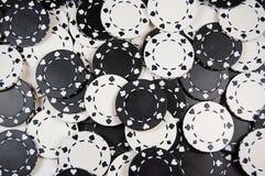 Priorità bassa in bianco e nero del chip di mazza Fotografie Stock Libere da Diritti