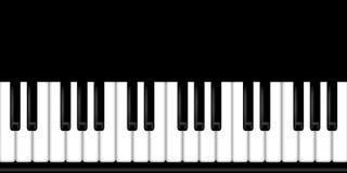 Priorità bassa in bianco e nero della tastiera di piano Fotografia Stock Libera da Diritti