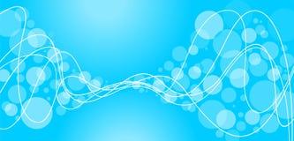 Priorità bassa blu astratta con i cerchi Immagine Stock