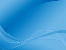 Priorità bassa blu astratta con le curve Immagini Stock