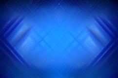 Priorità bassa blu astratta con le righe vaghe Immagini Stock Libere da Diritti
