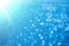Priorità bassa blu astratta del bokeh Fotografia Stock Libera da Diritti