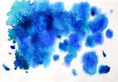 Priorità bassa blu astratta dell'acquerello Immagine Stock