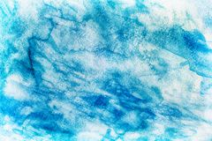 Priorità bassa blu astratta dell'acquerello Fotografie Stock