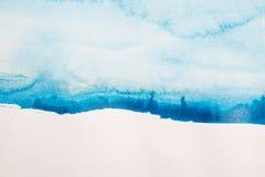 Priorità bassa blu astratta dell'acquerello immagini stock