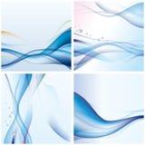 Priorità bassa blu astratta dell'onda Fotografia Stock