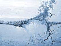 Priorità bassa blu astratta della spruzzata dell'onda Immagini Stock Libere da Diritti
