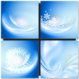 Priorità bassa blu astratta di inverno Fotografia Stock
