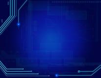 Priorità bassa blu astratta di tecnologia Fotografie Stock