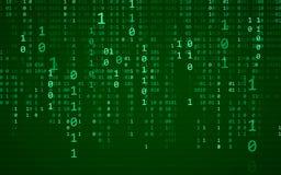 Priorità bassa blu astratta di tecnologia Codice macchina binario Programmazione/concetto pirata informatico/di codifica Illustra illustrazione vettoriale