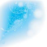 Priorità bassa blu-chiaro con i fogli. illustrazione di stock