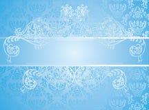 Priorità bassa blu con gli elementi floreali Immagine Stock