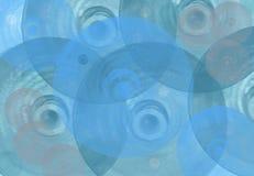 Priorità bassa blu con i cerchi Fotografie Stock Libere da Diritti