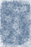 Priorità bassa blu con i fiocchi di neve bianchi Immagini Stock Libere da Diritti