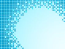 Priorità bassa blu con i pixel Immagine Stock Libera da Diritti
