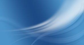 priorità bassa blu con le curve Immagini Stock