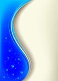 Priorità bassa blu con le gocce Immagini Stock