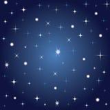 Priorità bassa blu con le stelle Fotografie Stock Libere da Diritti
