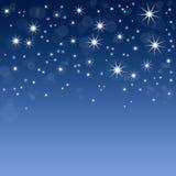 Priorità bassa blu con le stelle illustrazione vettoriale
