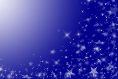 Priorità bassa blu con le stelle. Fotografia Stock Libera da Diritti