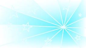 Priorità bassa blu con le stelle ed i raggi Fotografia Stock Libera da Diritti