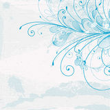 Priorità bassa blu con un reticolo illustrazione di stock