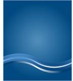 Priorità bassa blu corporativa dell'onda Immagini Stock