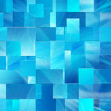 Fondo blu dei rettangoli Fotografie Stock