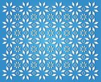 Priorità bassa blu del fiocco di neve Fotografia Stock Libera da Diritti