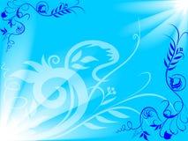 Priorità bassa blu del fiore Immagine Stock Libera da Diritti