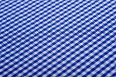 Priorità bassa blu del percalle Fotografie Stock